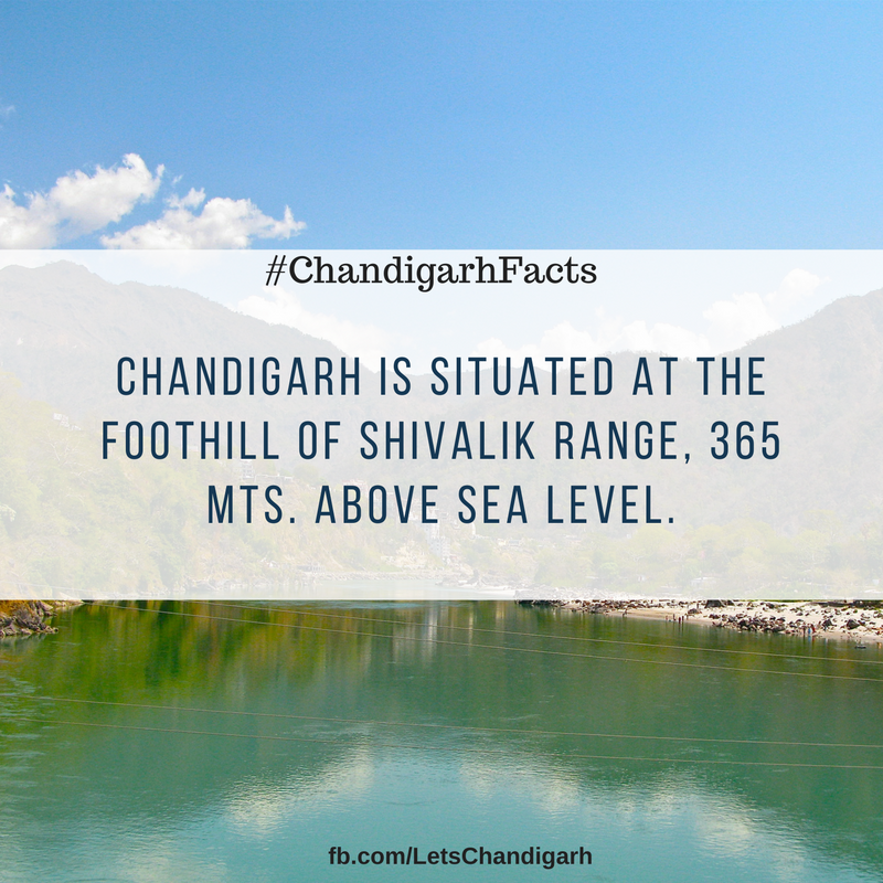 The beautiful city Chandigarh is situation at 365 meters above sea level.